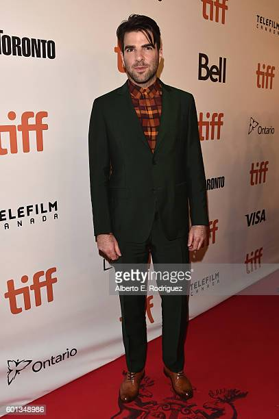 Actor Zachary Quinto attends the Snowden premiere during the 2016 Toronto International Film Festival at Roy Thomson Hall on September 9 2016 in...