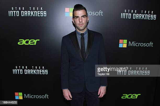 Actor Zachary Quinto attends the Star Trek Into Darkness screening at AMC Loews Lincoln Square on May 9 2013 in New York City