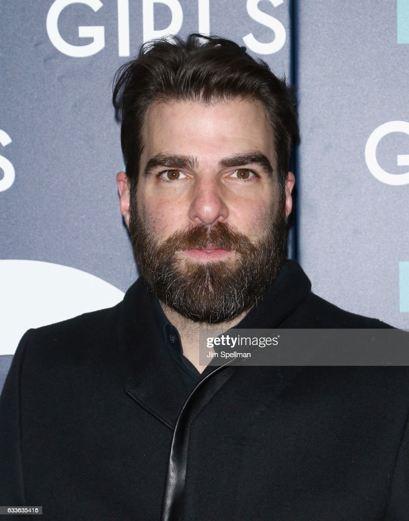 Actor Zachary Quinto attends the the New York premiere of the sixth and final season of 'Girls' at Alice Tully Hall, Lincoln Center on February 2, 2017 in New York City.