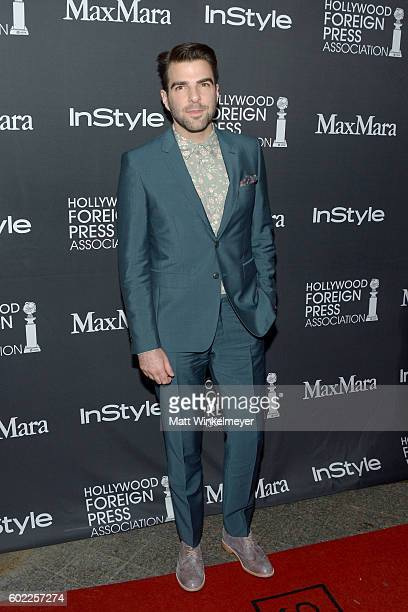 Actor Zachary Quinto attends the TIFF/InStyle/HFPA Party during the 2016 Toronto International Film Festival at Windsor Arms Hotel on September 10...