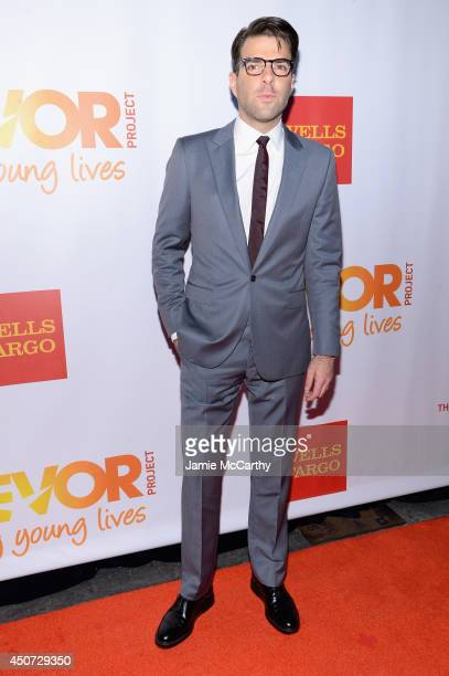 Actor Zachary Quinto attends the Trevor Project's 2014 'TrevorLIVE NY' Event at the Marriott Marquis Hotel on June 16 2014 in New York City
