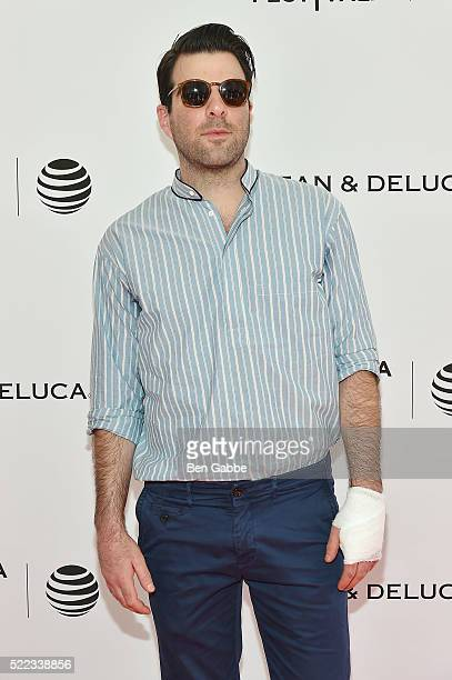 Actor Zachary Quinto attends the Tribeca Tune In For the Love Of Spock event during the 2016 Tribeca Film Festival at SVA Theatre 1 on April 18 2016...