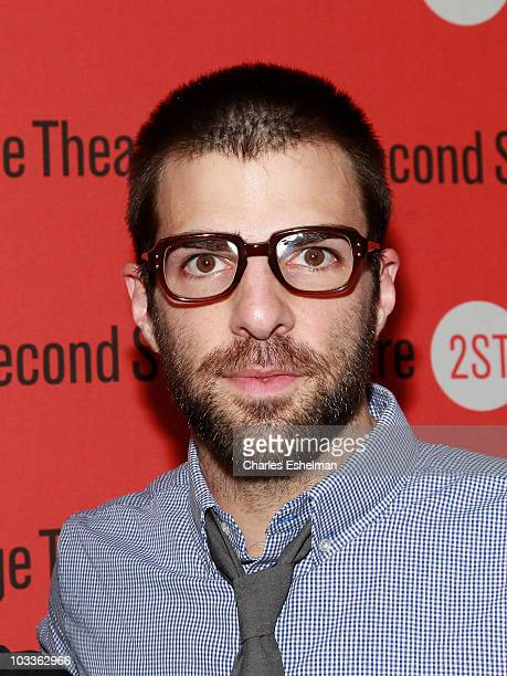 Actor Zachary Quinto attends the 'Trust' OffBroadway opening night at the Second Stage Theatre on August 12 2010 in New York City