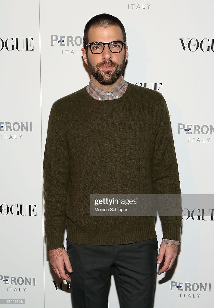 Actor Zachary Quinto attends the Vogue Italia Opening Night Exhibition at Industria Studios on October 14, 2014 in New York City.