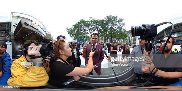 Actor Zachary Quinto is interviewed by the Getty Images Entertainment Video team at the UK Premiere of Paramount Pictures Star Trek Beyond at the...