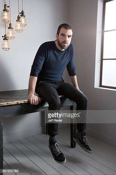 Actor Zachary Quinto is photographed for TV Guide Magazine on January 16 2015 in Pasadena California