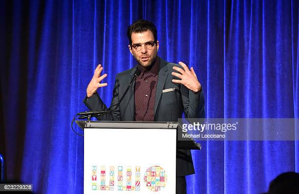 Actor Zachary Quinto speaks on stage during Worldwide Orphans 12th Annual Gala at Cipriani Wall Street on November 14 2016 in New York City