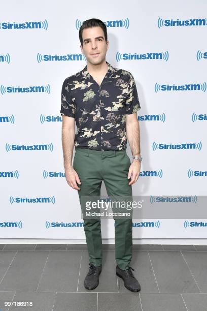 Actor Zachary Quinto visits SiriusXM Studios on July 12 2018 in New York City