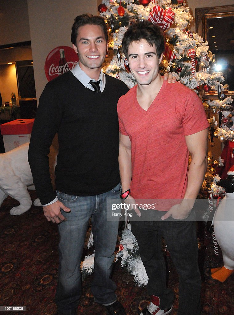 Actor Zack Silva and actor Paul Vandervort attend Venice Magazine and Coca Cola's Parade Viewing Party at the Roosevelt Hotel on November 28, 2010 in Hollywood, California.