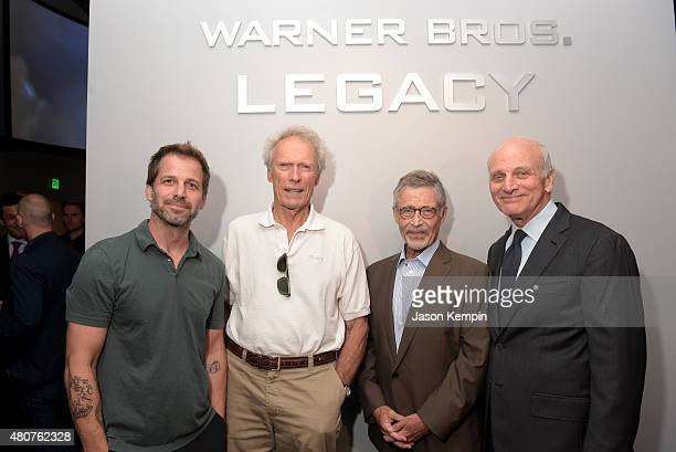 Actor Zack Snyder Clint Eastwood former Warner Bros Chairman CEO Barry Meyer and Warner Bros Entertainment Vice Chairman Ed Romano attend the Warner...