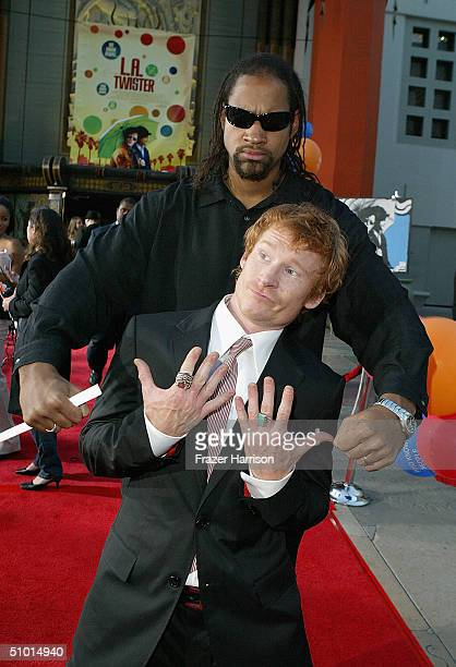 """Actor Zack Ward and David Walters arrive at the World Premiere of """"LA Twister"""" on June 30, 2004 at the Grauman's Chinese Theatre, in Hollywood,..."""