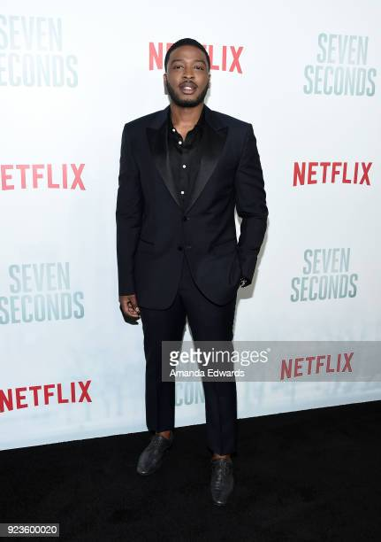 Actor Zackary Momoh arrives at Netflix's 'Seven Seconds' Premiere at The Paley Center for Media on February 23 2018 in Beverly Hills California