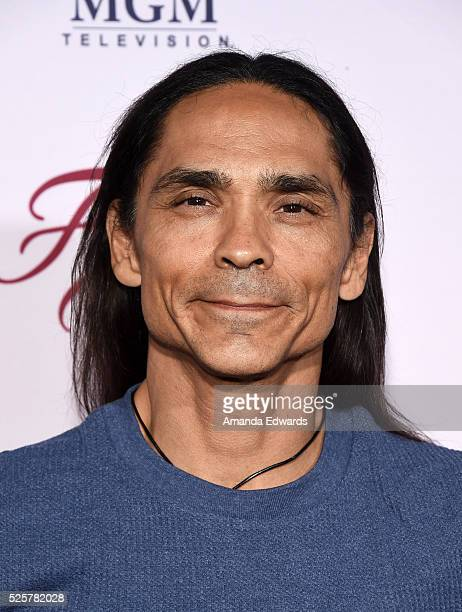 Actor Zahn McClarnon arrives at the For Your Consideration event for FX's 'Fargo' at Paramount Pictures on April 28 2016 in Los Angeles California
