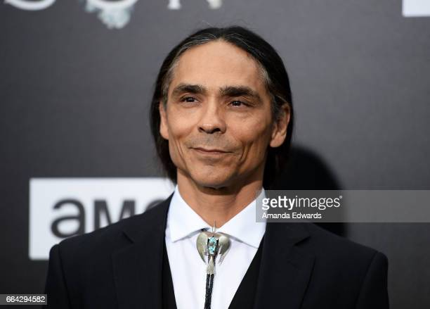 Actor Zahn McClarnon arrives at the premiere of AMC's 'The Son' at ArcLight Hollywood on April 3 2017 in Hollywood California