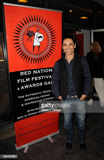 Actor Zahn McClarnon arrives for the 9th Annual Red Nation Film Festival Closing Night Gala held at Harmony Gold Theatre on November 14 2012 in Los...