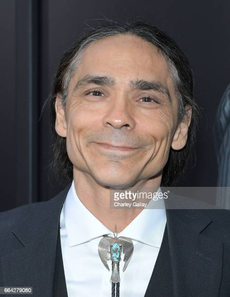 Actor Zahn McClarnon attends AMC's 'The SON' premiere at ArcLight Hollywood on April 3 2017 in Hollywood California