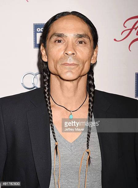 Actor Zahn McClarnon attends the premiere of FX's 'Fargo' Season 2 held at ArcLight Cinemas on October 7 2015 in Hollywood California