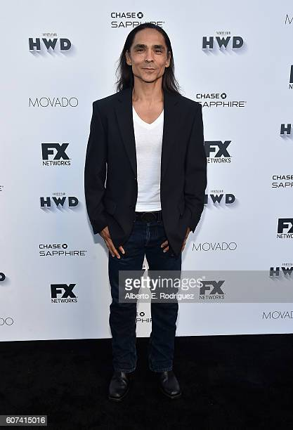 Actor Zahn McClarnon attends the Vanity and FX Annual Primetime Emmy Nominations Party at Craft Restaurant on September 17 2016 in Beverly Hills...