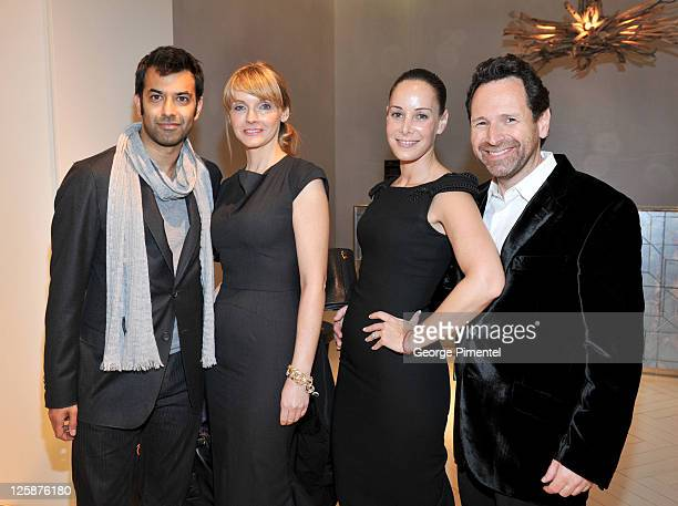 Actor Zaib Shaikh GM of CBC Television Kirstine Stewart Melissa Manly and Barry Avrich attend the cocktail reception for designer L'Wren Scott at The...