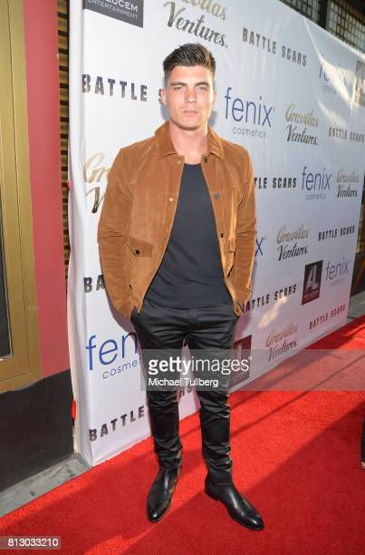 Actor Zane Holtz attends the Los Angeles premiere of 'Battle Scars' at Ahrya Fine Arts Theater on July 11 2017 in Beverly Hills California