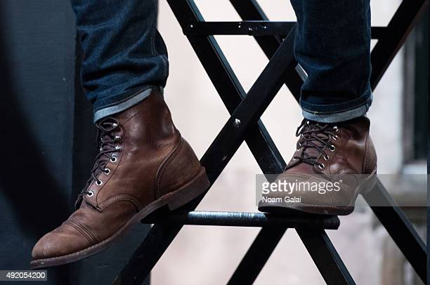 Actor Zane Holtz of 'From Dusk Til Dawn The Series' shoe detail attends AOL Build at AOL Studios in New York on October 9 2015 in New York City