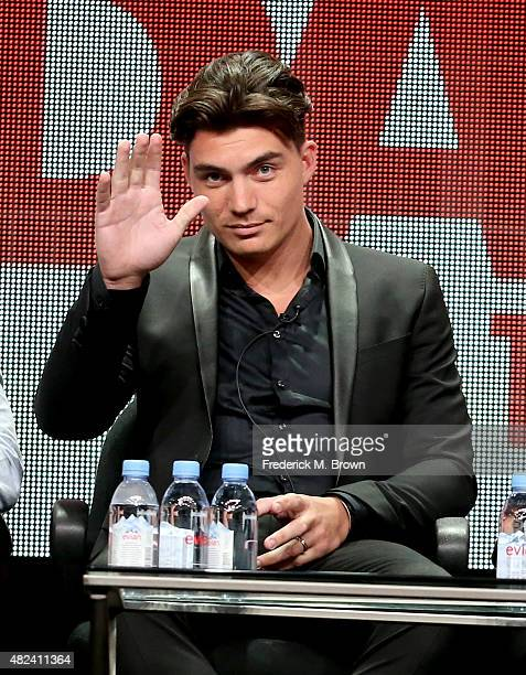 Actor Zane Holtz speaks onstage during the 'From Dusk Til Dawn The Series' panel discussion at the El Rey Network portion of the 2015 Summer TCA Tour...