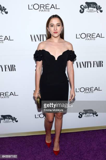 Actor Zelda Williams attends Vanity Fair and L'Oreal Paris Toast to Young Hollywood hosted by Dakota Johnson and Krista Smith at Delilah on February...