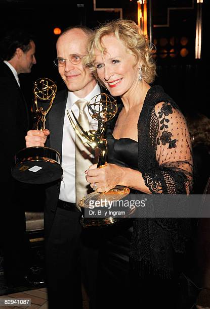 Actor Zeljko Ivanek , with his Emmy award for Best Supporting Actor in a Drama Series, and actress Glenn Close, with her Emmy award for Best Actress...