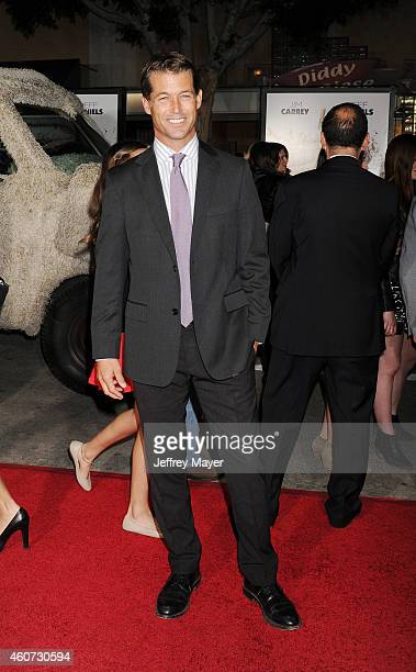 Actor Zen Gesner arrives at the Los Angeles premiere of 'Dumb And Dumber To' at Regency Village Theatre on November 3 2014 in Westwood California