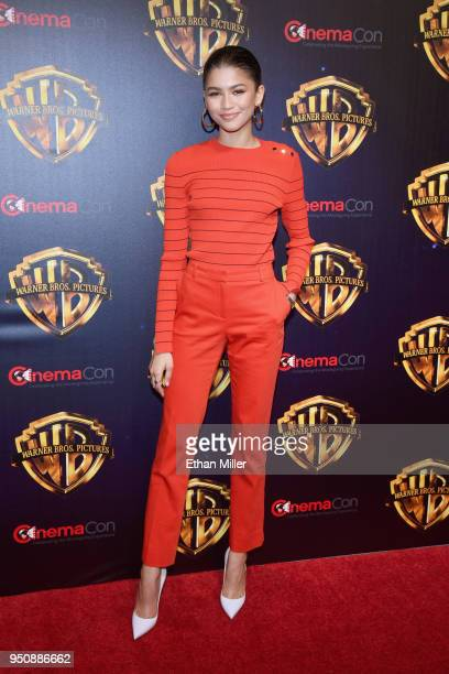 "Actor Zendaya attends CinemaCon 2018 Warner Bros Pictures Invites You to ""The Big Picture"" an Exclusive Presentation of our Upcoming Slate at The..."