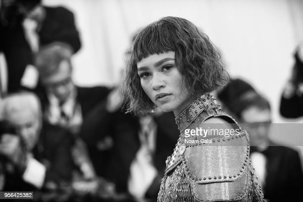 Actor Zendaya attends the Heavenly Bodies Fashion The Catholic Imagination Costume Institute Gala at The Metropolitan Museum of Art on May 7 2018 in...