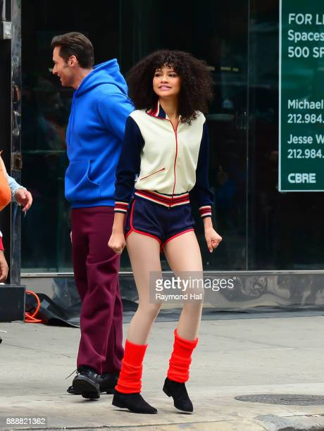 Actor Zendaya is seen on the set of The Late Show With James Cordenon December 8 2017 in New York City