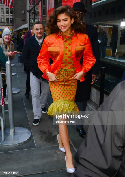 Actor Zendaya is seen outside the today show on December 11 2017 in New York City