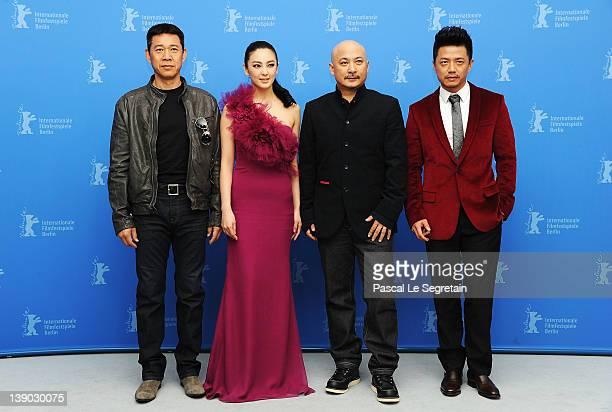 """Actor Zhang Fengyi, actress Zhang Yuqi,director Wang Quan'an and actor Duan Yihong attend the """"Bai Lu Yuan"""" Photocall during day seven of the 62nd..."""
