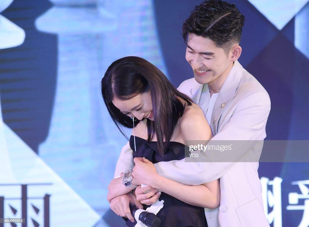 Actor Zhang Han and actress Chun-Ning Chang attend the press