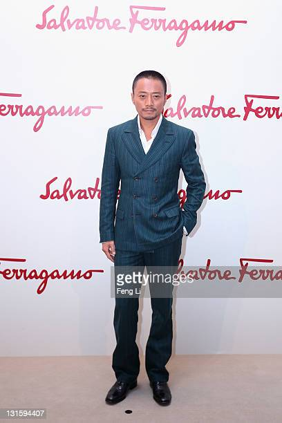 Actor Zhang Hanyu arrives at the Salvatore Ferragamo Spring Summer show at the Ullens Centre for Contemporary Art on November 5 2011 in Beijing China