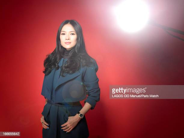 Actor Zhang Ziyi is photographed for Paris Match on February 4 2013 in Paris France