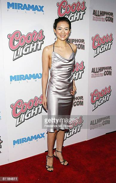 """Actor Ziyi Zhang attends the film premiere of """"Hero"""" at the Arclight Theater on August 17, 2004 in Hollywood, California. The film """"Hero"""" opens..."""
