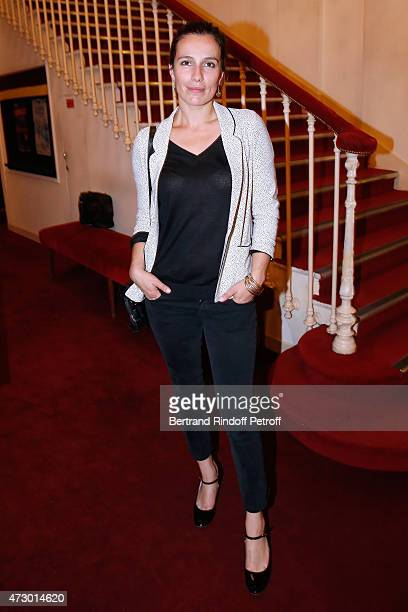 Actor Zoe Felix poses after the 'Open Space' Theater Play at Theatre de Paris on May 11 2015 in Paris France