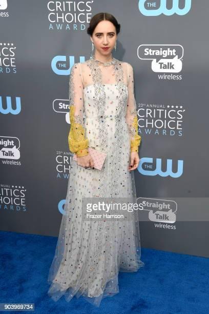Actor Zoe Kazan attends The 23rd Annual Critics' Choice Awards at Barker Hangar on January 11 2018 in Santa Monica California