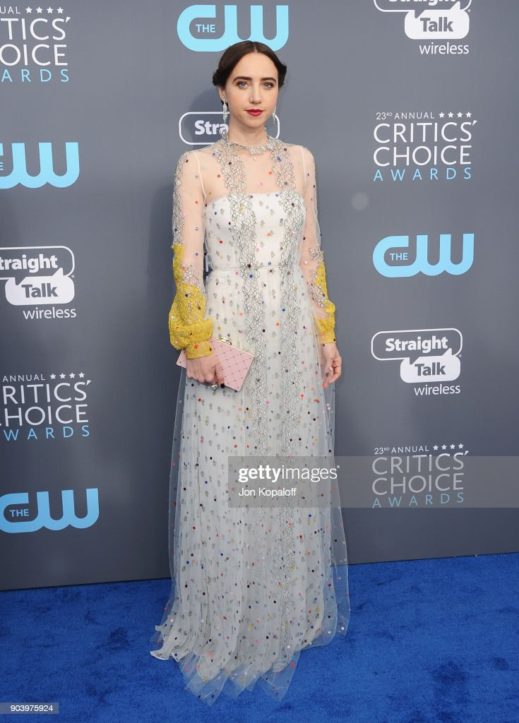 Actor Zoe Kazan attends The 23rd Annual Critics' Choice Awards at Barker Hangar on January 11, 2018 in Santa Monica, California.