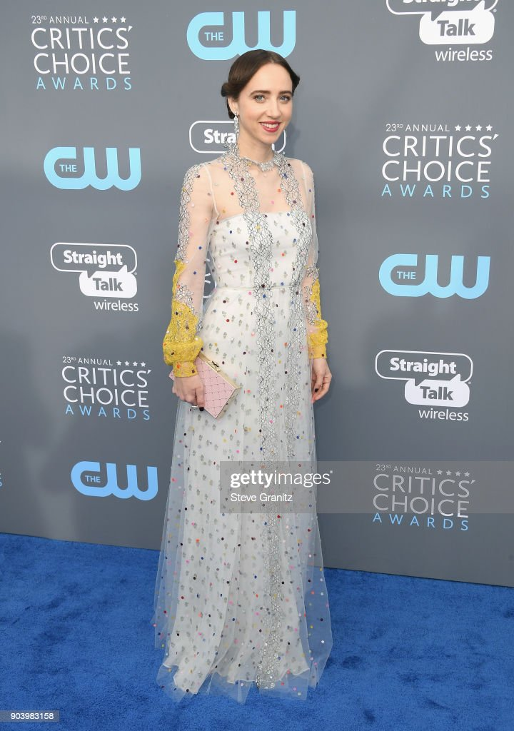 Actor Zoe Kazan attends The 23rd Annual Critics' Choice Awards at Barker Hangar on January 11, 2018 in Santa Monica, California.