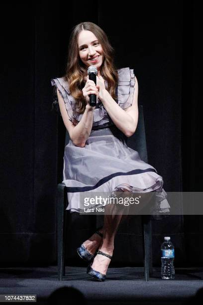Actor Zoe Kazan on stage during MoMA's Contenders screening of The Ballad of Buster Scruggs at MoMA Titus One on December 19 2018 in New York City