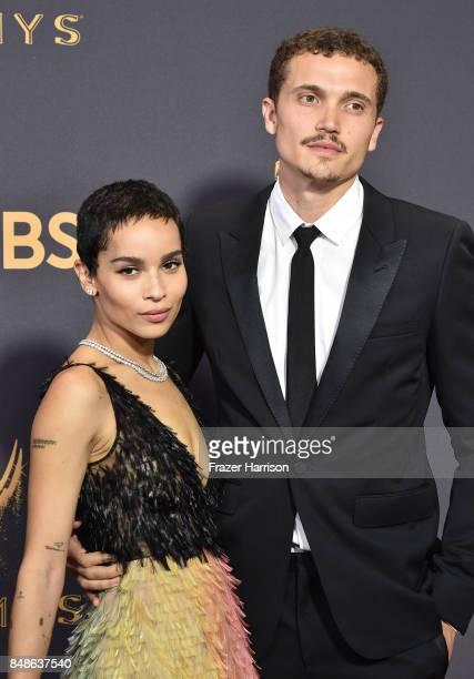 Actor Zoe Kravitz and Karl Glusman attend the 69th Annual Primetime Emmy Awards at Microsoft Theater on September 17, 2017 in Los Angeles, California.