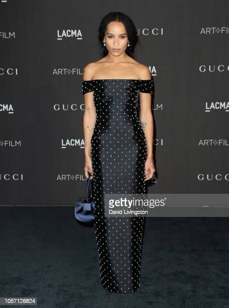 Actor Zoe Kravitz attends 2018 LACMA Art Film Gala honoring Catherine Opie and Guillermo del Toro presented by Gucci at LACMA on November 3 2018 in...