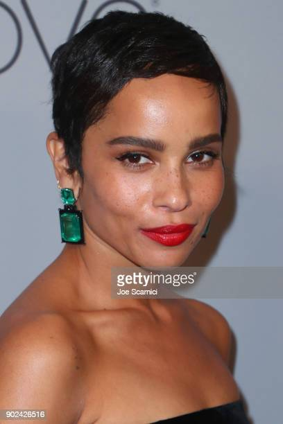 Actor Zoe Kravitz attends the 2018 InStyle and Warner Bros 75th Annual Golden Globe Awards PostParty at The Beverly Hilton Hotel on January 7 2018 in...