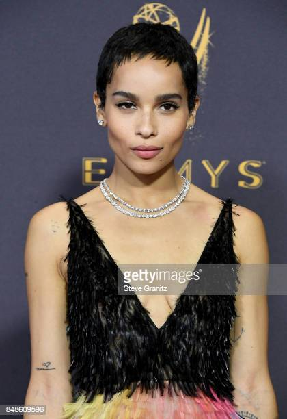 Actor Zoe Kravitz attends the 69th Annual Primetime Emmy Awards at Microsoft Theater on September 17, 2017 in Los Angeles, California.