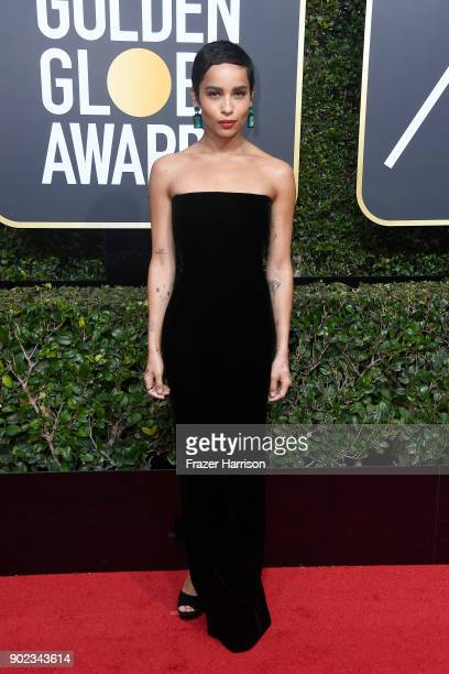 Actor Zoe Kravitz attends The 75th Annual Golden Globe Awards at The Beverly Hilton Hotel on January 7, 2018 in Beverly Hills, California.