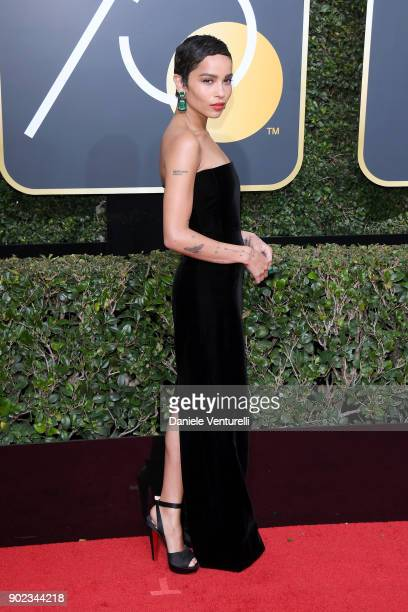 Actor Zoe Kravitz attends The 75th Annual Golden Globe Awards at The Beverly Hilton Hotel on January 7 2018 in Beverly Hills California