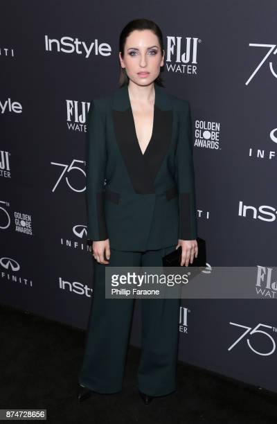 Actor Zoe ListerJones attends the HFPA's and InStyle's Celebration of the 2018 Golden Globe Awards Season and the Unveiling of the Golden Globe...